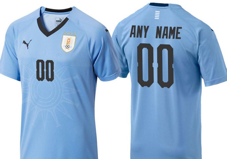 5d808f67a Custom Uruguay Football Soccer Jersey For Men