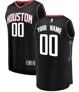 Custom Houston Rockets NBA Basketball Jersey For Men 7c566806163c
