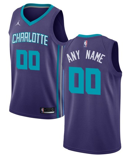 Custom Charlotte Hornets NBA Basketball Jersey For Men 6be2d176f