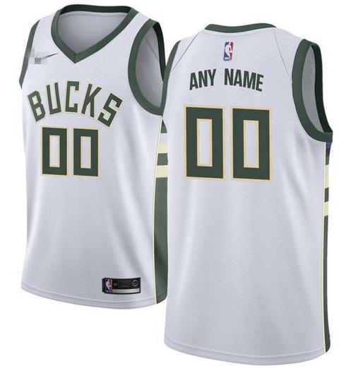 8cec4d98021 Custom Milwaukee Bucks NBA Basketball Jersey For Men