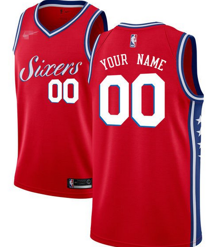 Custom Philadelphia 76ers NBA Basketball Jersey For Men e1a51dc7cec