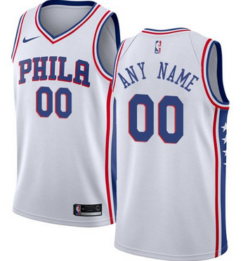 89f2000a4 Custom Philadelphia 76ers NBA Basketball Jersey For Men