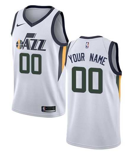 8e7f44a305c Custom Utah Jazz NBA Basketball Jersey For Men