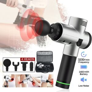 Electric Body Muscles Massage Gun Refuse You Lose color: Carbon Black|Black|Red|Pink|Silver|Yellow|Green