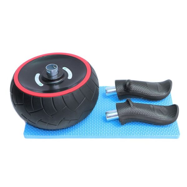 Abdominal Muscle Training Wheel Refuse You Lose color: Black