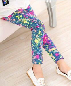 Classic Girl's Printed Leggings Workout at Home For Kids 2020 New Deals Best Gifts For Girls in 2020 For Girls Gifts For Girls color: Balloon cartoon|Big flower|Cartoon|Colorful stripes|digital|doodle flower|dot swan|footprint|Graffiti|Houndstooth|Ink flower|love|number 17|Small animals|Square lattice|Striped leaves|Vertical stripes|white bear|white flower|Leopard
