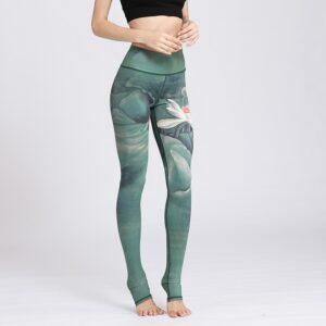 Elastic Printed Women's Yoga Leggings Refuse You Lose color: HK143|HK144|HK145|HK146