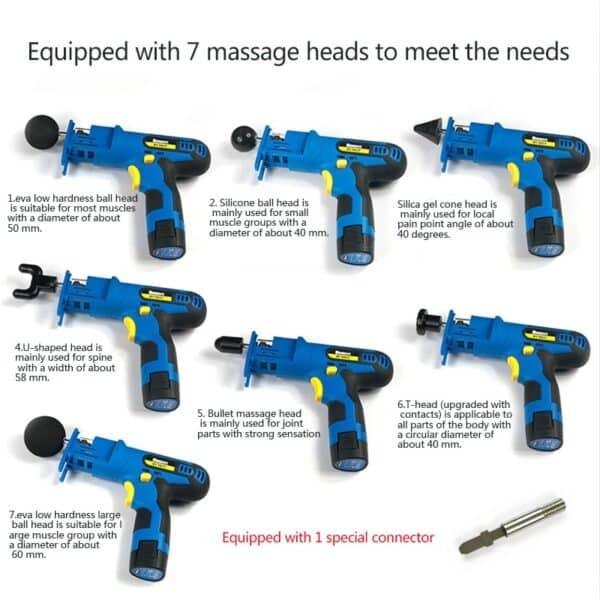 Electronic Body Massage Gun Refuse You Lose standard-voltage: 110V 220V
