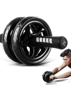 Extra Power Abdominal Wheel Workout At Home Workout Equipment 2020 New Deals Best Gifts of 2020 Best Gifts For Women in 2020 Best Gifts For Men in 2020 Gifts For Men Gifts For Women Sports & Jerseys Gym and Fitness Fitness Equipment color: Black