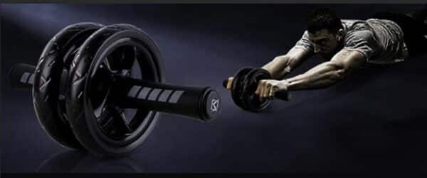 Extra Power Abdominal Wheel Refuse You Lose color: Black