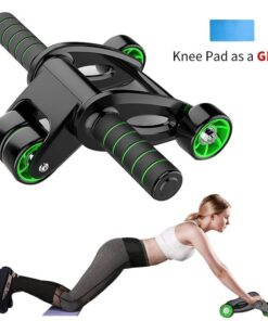 Four-Wheeled Roller for Abdominal Exercise Workout At Home Workout at Home For Women Workout at Home For Men Workout Equipment 2020 New Deals Best Gifts For Women in 2020 Best Gifts For Men in 2020 Gifts For Men Gifts For Women Sports & Jerseys Gym and Fitness Fitness Equipment color: Black