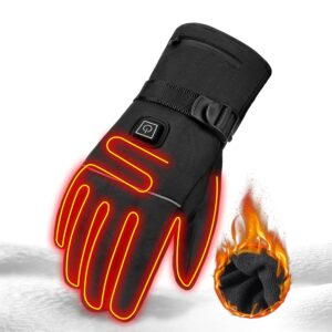 Heated Waterproof Motorcycle Gloves Refuse You Lose color: A1 No Battery|A1 With 2pcs Battery|A2 No Battery|A2 With 2pcs Battery