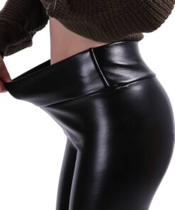 Leather Leggings for Women 2020 New Deals Best Gifts For Women in 2020 For Women Gifts For Women Leggings and Pants For Women color: Black