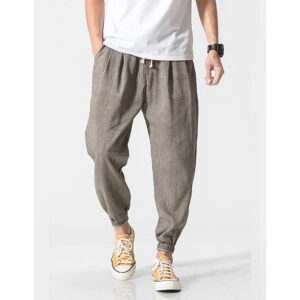 Men's Exercise Harem Pants Refuse You Lose color: Molv|NavyBlue|Beige|Black|Gray|Khaki|LightBlue