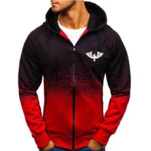 Men's Sport Gradient Hooded Jacket Refuse You Lose color: 01 02 03