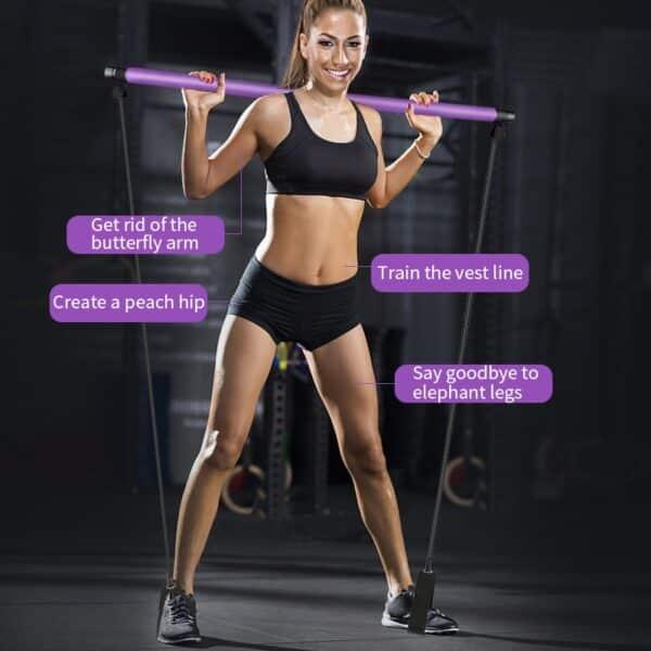 Multifunctional Pilates Exercise Bar Refuse You Lose color: Set 3|Set 4|Set 5|Set 6|Set 7|Pink|Set 1|Set 2|Purple