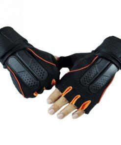 Unisex Half Finger Training Gloves 2020 New Deals Best Gifts For Men in 2020 Gifts For Men Sports & Jerseys Gym and Fitness Gloves color: Black Orange|Dark Blue