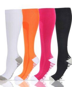 Women's High Colorful Sports Socks 2020 New Deals Best Gifts For Women in 2020 For Women Gifts For Women Accessories For Women color: Black|Fluorescent Green|White|Dark Blue|Green|Light Blue|Navy|Orange|Rose