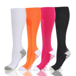Women's High Colorful Sports Socks Refuse You Lose color: Black|Fluorescent Green|White|Dark Blue|Green|Light Blue|Navy|Orange|Rose