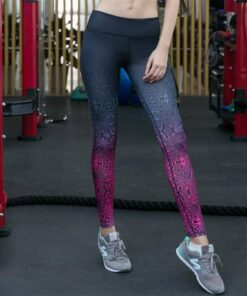 Women's Patterned Gradient Fitness Leggings Workout At Home Workout at Home For Women 2020 New Deals Best Gifts For Women in 2020 For Women Gifts For Women Sportswear for Women Leggings and Pants For Women color: Multi