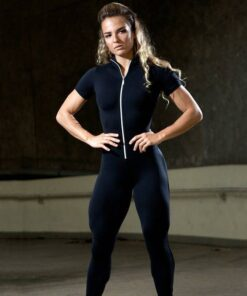 Women's Short Sleeve Sports Set with Zipper Workout At Home Workout at Home For Women 2020 New Deals Best Gifts of 2020 Best Gifts For Women in 2020 For Women Gifts For Women Sportswear for Women Leggings and Pants For Women color: Black|Red|Deep Gray
