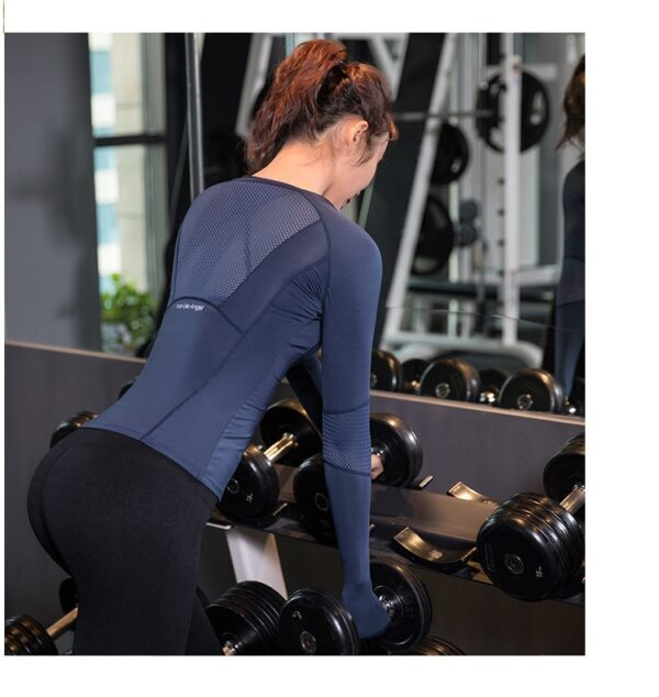 Women's Solid Color Long Sleeve Sports Top Refuse You Lose color: Black|Blue|Pink