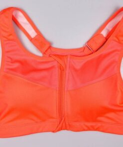 Women's Sports Bra with Frontal Zipper Workout At Home Workout at Home For Women 2020 New Deals For Women Sportswear for Women Accessories For Women color: Black Blue Rose Red White Grey Orange Purple