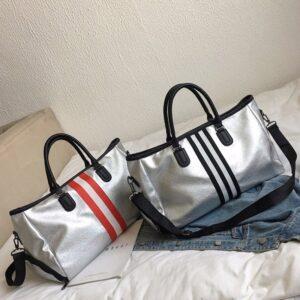 Women's Travel Sports Shoulder Bag Refuse You Lose color: shoes black|shoes silver red|shoes sliver black|wet shoes sliver bk|wet shoes sliver red