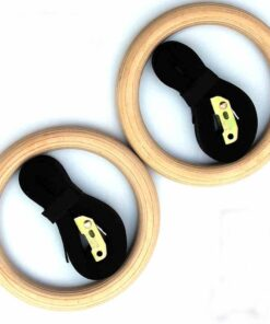 Wooden Gymnastic Rings Fot Pull Ups Workout At Home Workout Equipment 2020 New Deals Best Gifts For Men in 2020 Gifts For Men Sports & Jerseys Gym and Fitness Fitness Equipment Prop Choice: Gymnastic Ring