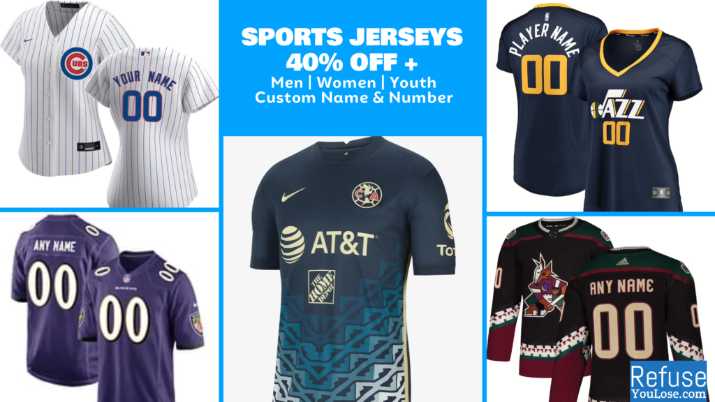 Sports Jerseys 40% Off